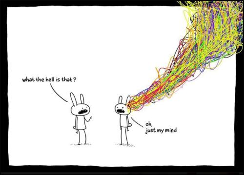 - Co to do diabła jest? - Och to po prostu mój umysł.